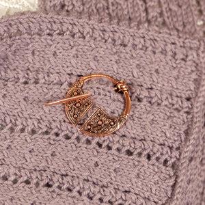 Celtic/Viking Design Penannular Cloak Pin