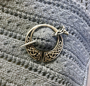 Celtic Knots Design Penannular Metal Shawl Pin