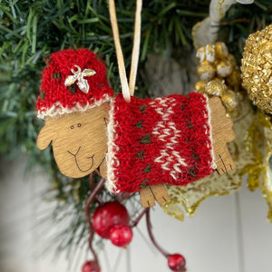 Christmas Decoration Knitting Kit Gift Box - Fair Isle Set