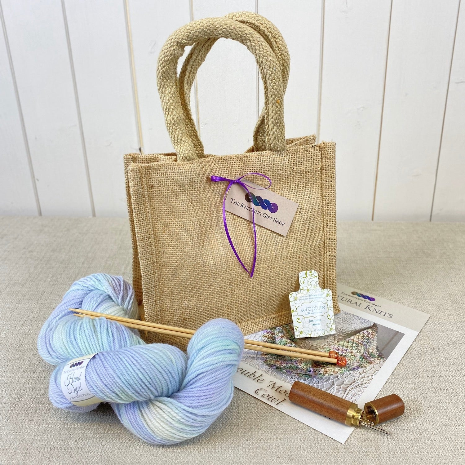 Double Moss Stitch Cowl Gift Bag