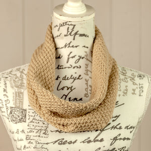 Double Moss Stitch Cowl