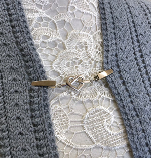 Decorative Metal Shawl Clip - Eternal Heart