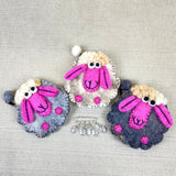 Felted Sheep Purse & Stitch Markers Set