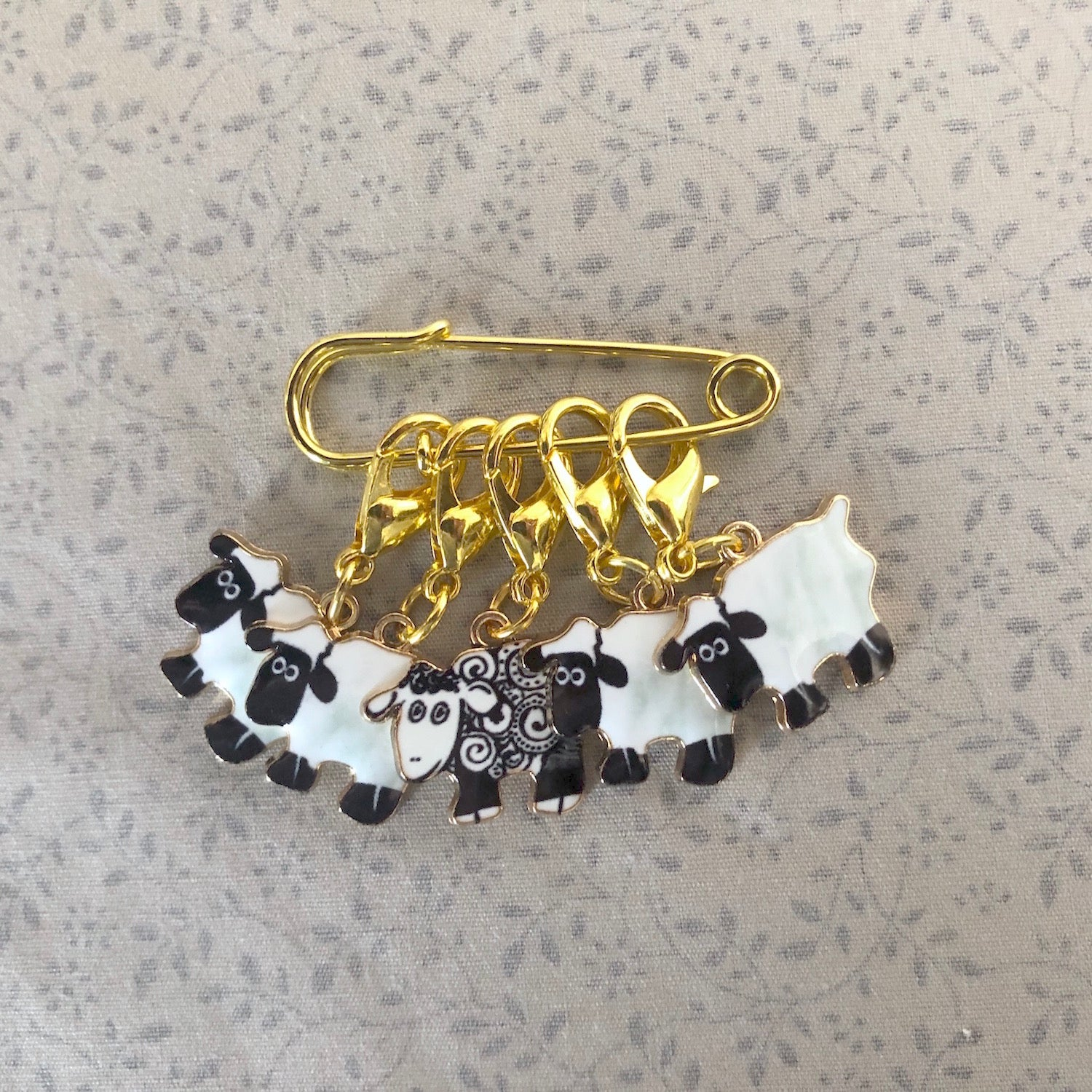 Knitting & Crochet Stitch Markers - Gold Sheep