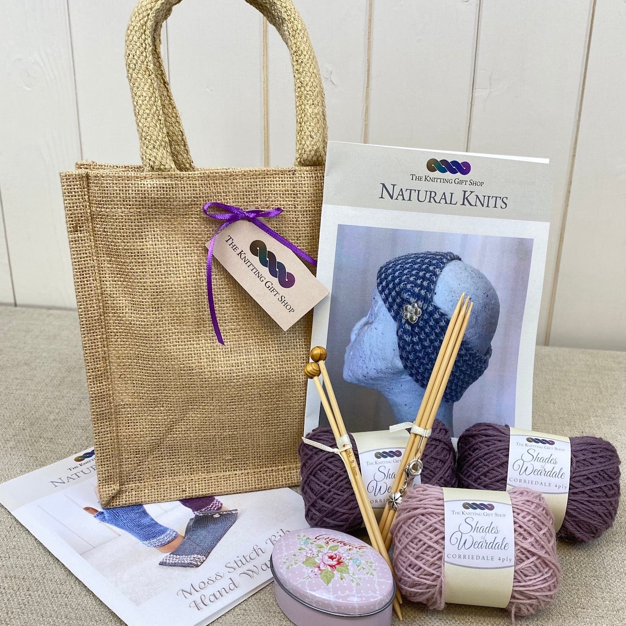 Knitted Headband & Handwarmers Gift Bag
