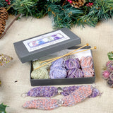 Hearts & Flowers Bracelet Knitting Kit Gift Box