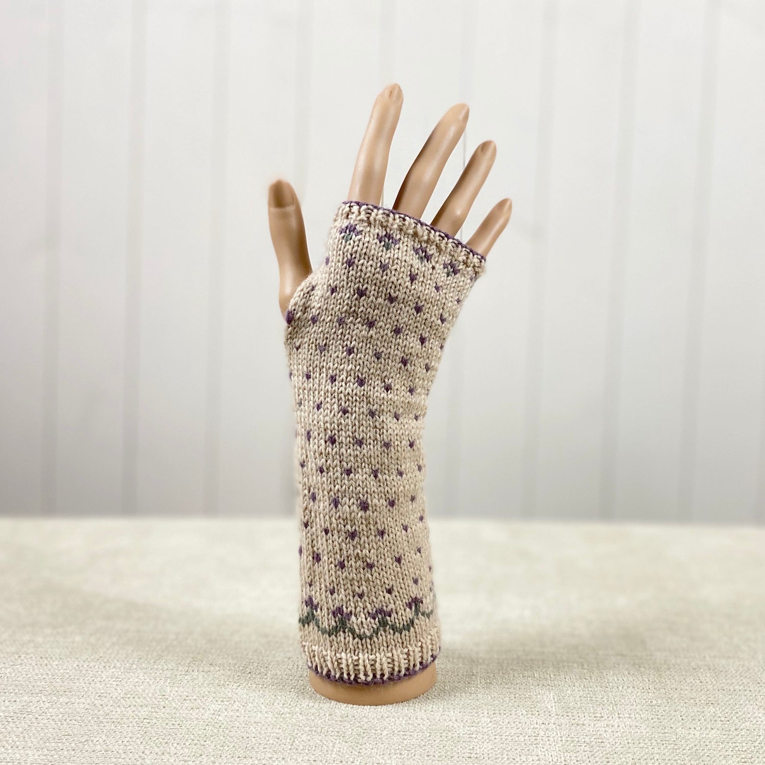 Fair Isle Wrist Warmers Knitting Kit