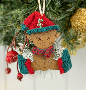 Baby Christmas Elf Decoration Knitting Kit