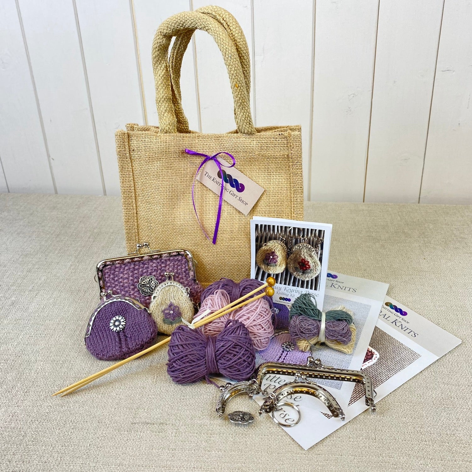 Knitted Purse Collection Gift Bag