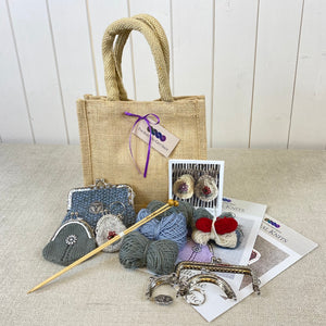 Wise Owl Large Framed Knitting Bag