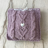 Lavender Cushion Knitting Kit (with complimentary bottle of lavender essential oil)