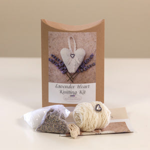 Lavender Heart Knitting Kit