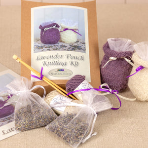 Lavender Pouch Knitting Kit