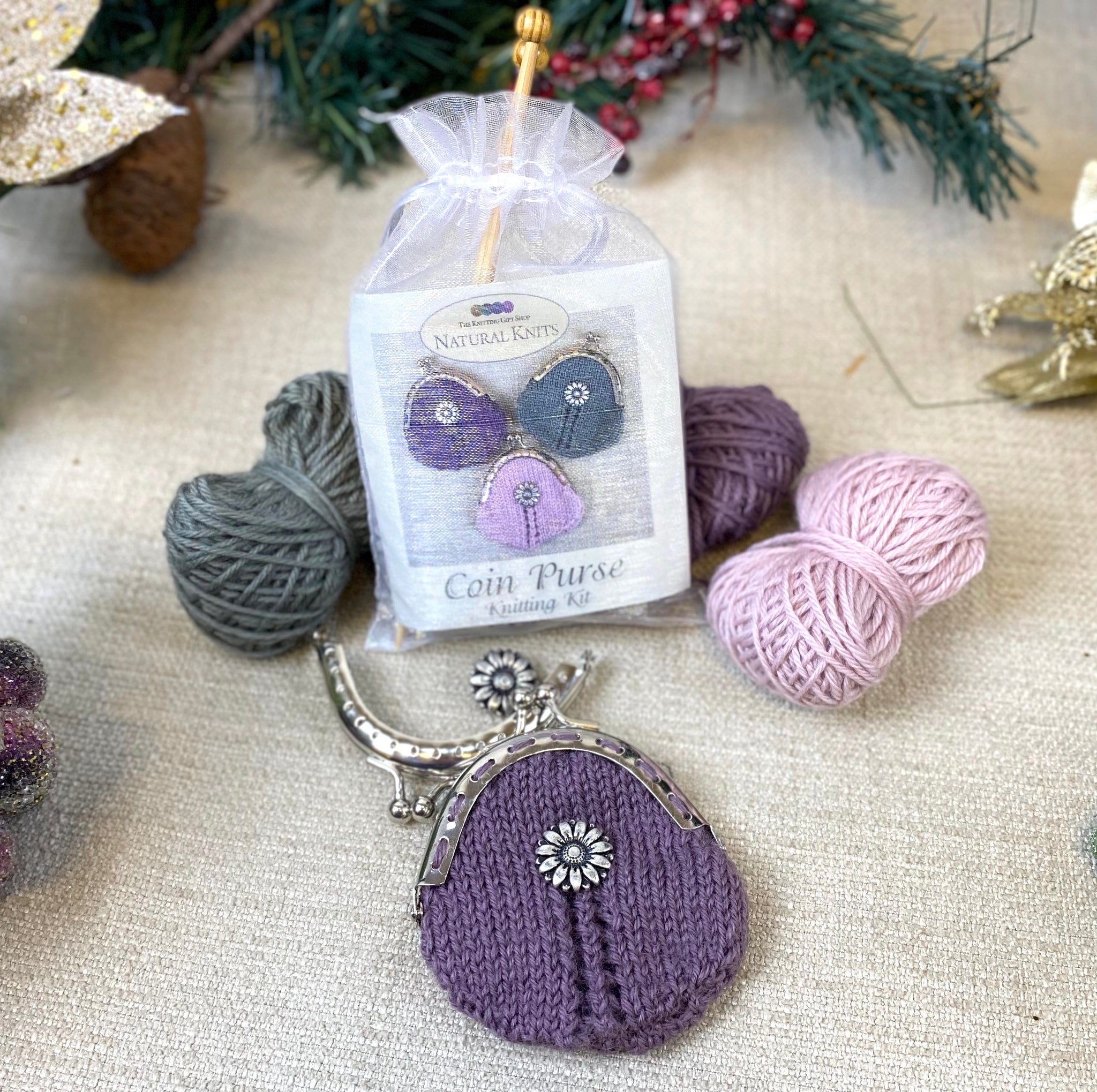 Coin Purse Knitting Kit