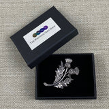 Classic Thistle Design Metal Brooch
