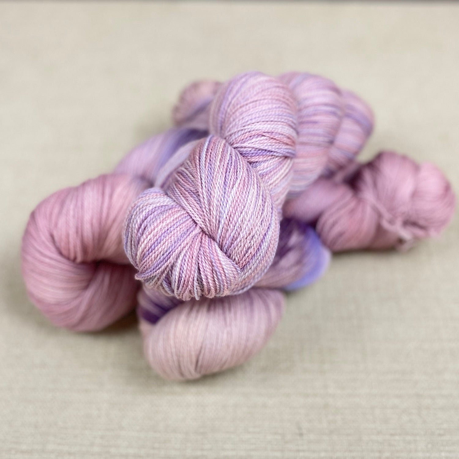 100g Organic Merino Lace Weight -  Peony & Heather