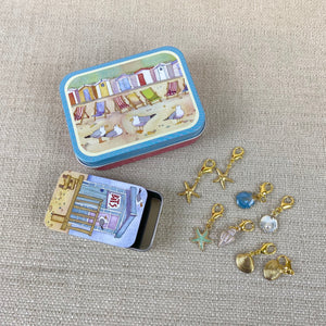 Seaside Bits & Bobs Tin & Stitch Markers Set