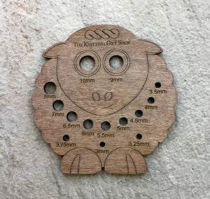 Wooden Knitting Needle Gauge
