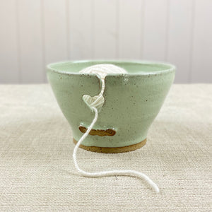 Small Ceramic Yarn Bowl in Pistachio Green