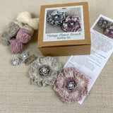 Vintage Flower Brooch Knitting Kit