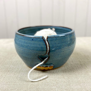 Ceramic Yarn Bowl in Rutile Blue
