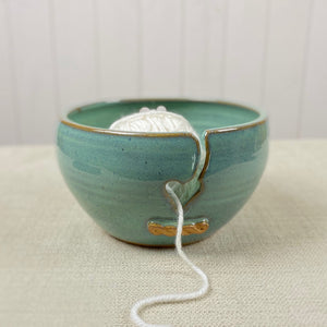Ceramic Yarn Bowl in Sea Green