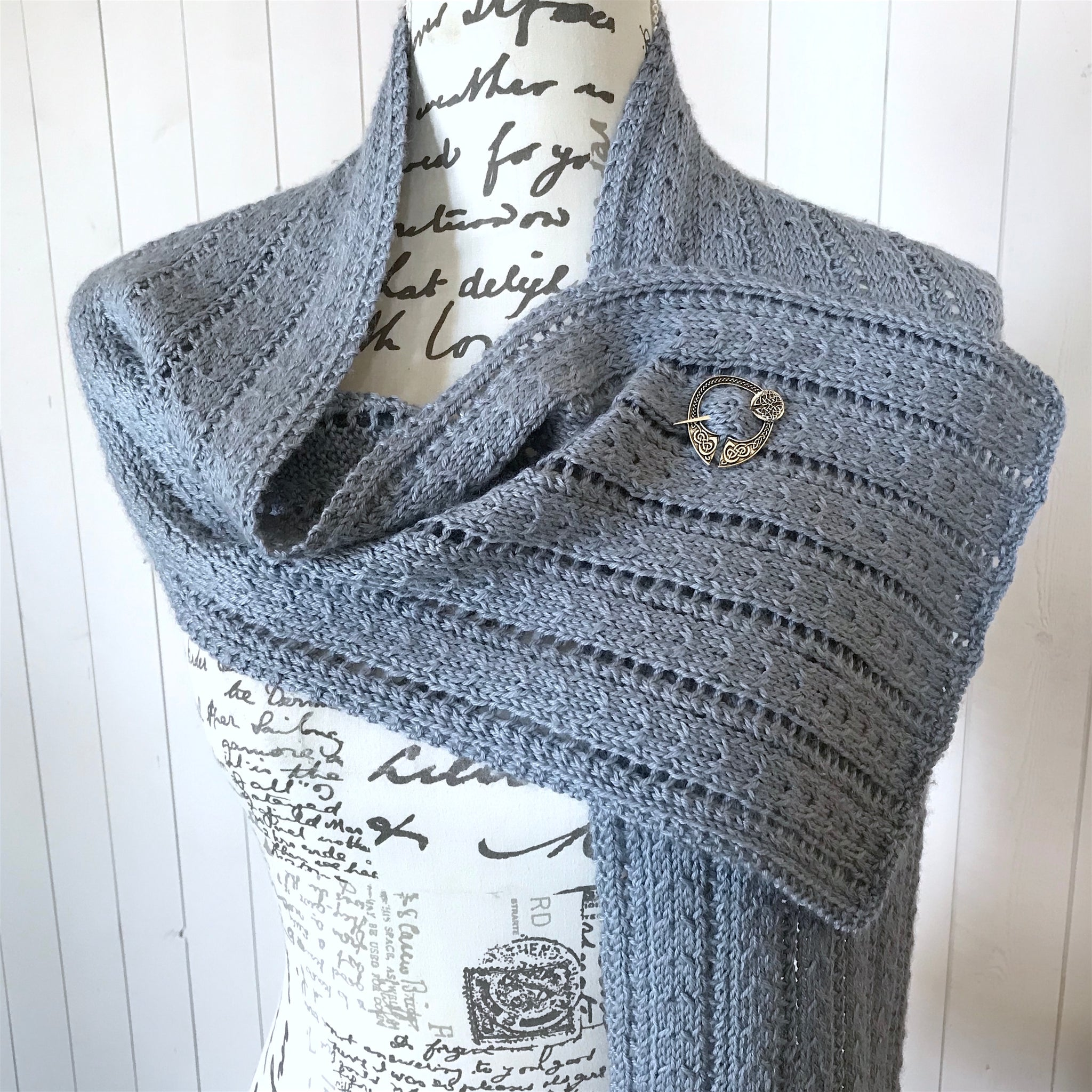 Lace & Cables Scarf