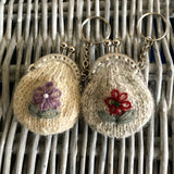 Lazy Daisy Keyring Purse Knitting Kit