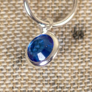 Birthstone Knitting Stitch Markers in a Tub