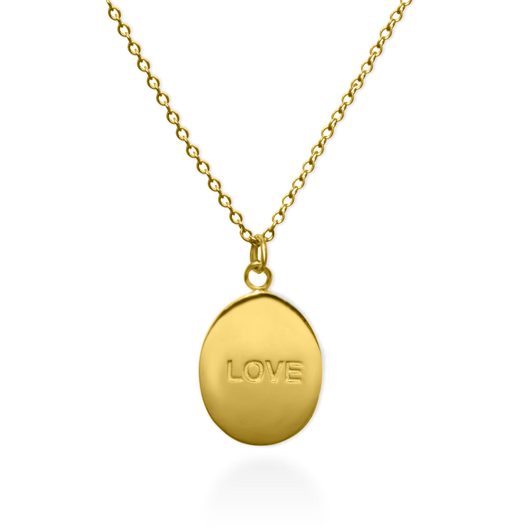 Love Rose Necklace Gold