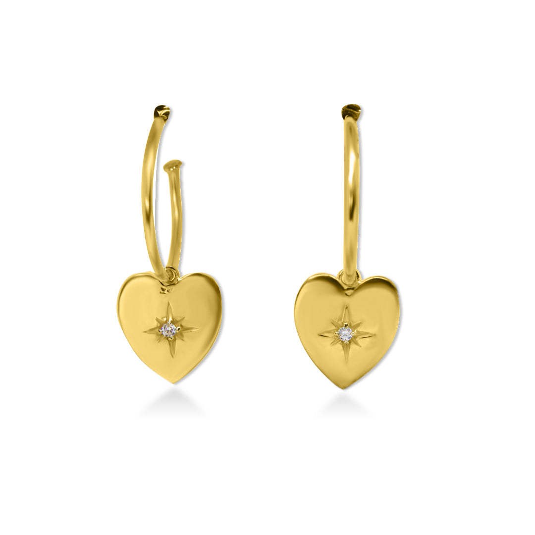 Love Star Earrings Gold