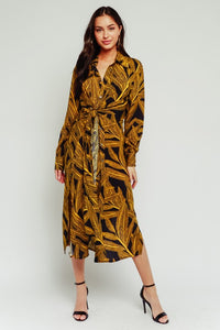 GILDED PARADISE SHIRT DRESS