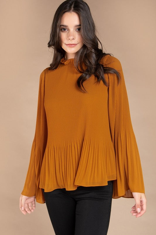 RETRO PLEATED BLOUSE
