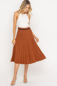 RETRO PLEATED KNIT SKIRT
