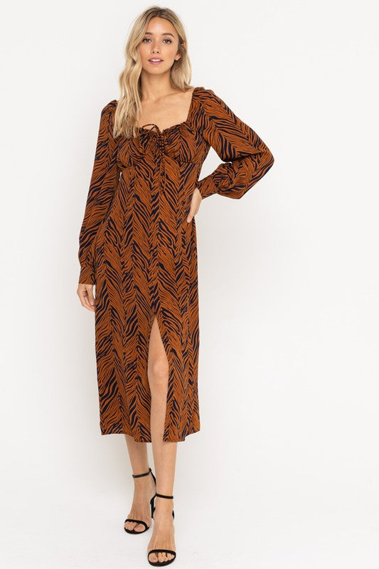SQUARE SCOOP SAFARI DRESS