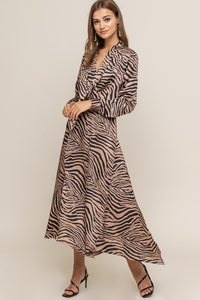ZEBRA STRIPE DRESS