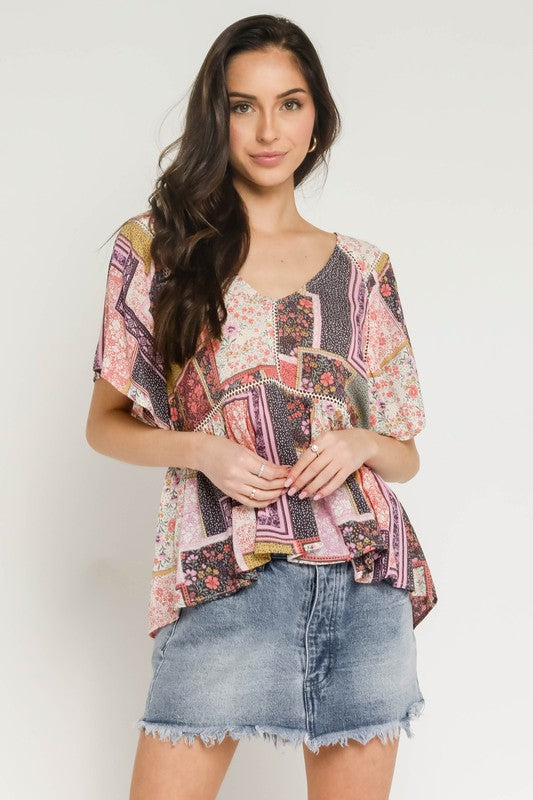 PATCHWORK BLOUSE