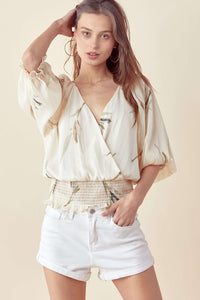 IVORY LUREX BLOUSE