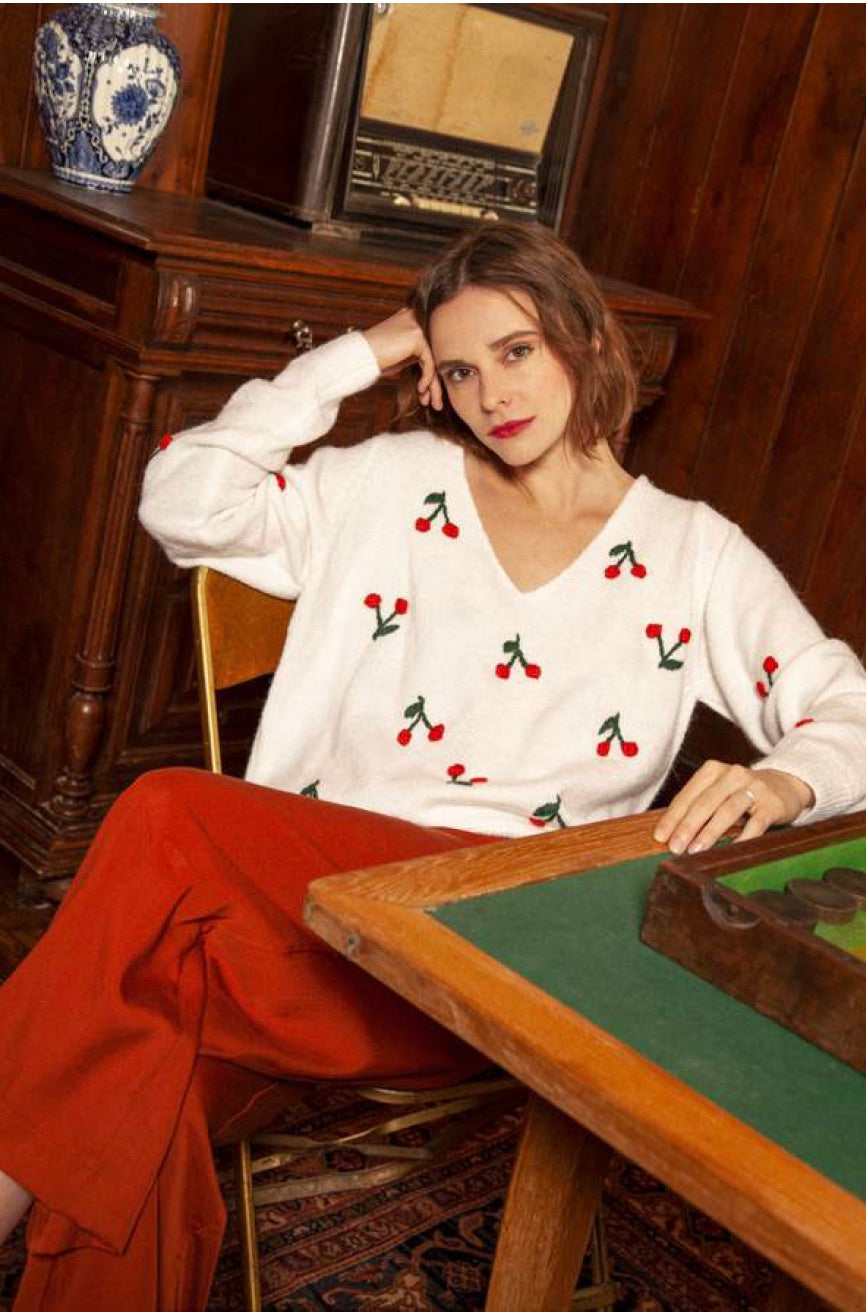 NORINE CHERRY SWEATER