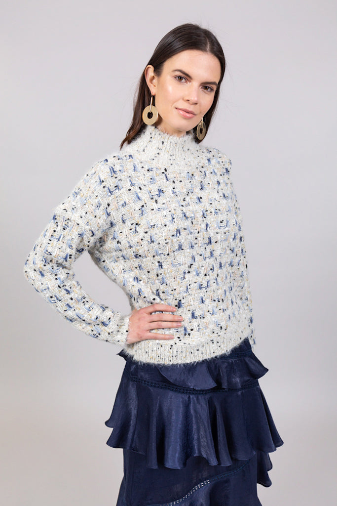 MULTI NEP METALLIC SWEATER