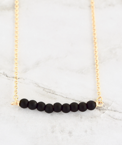 FINLEY BLACK NECKLACE