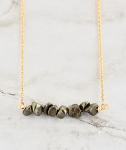 FINLEY GUNMETAL NECKLACE