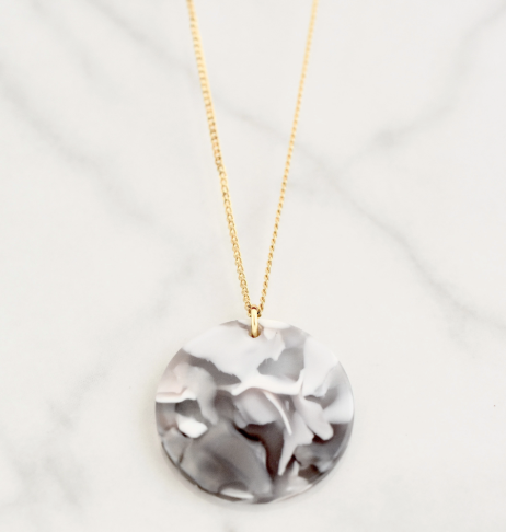 MARIELLA GREY COIN NECKLACE