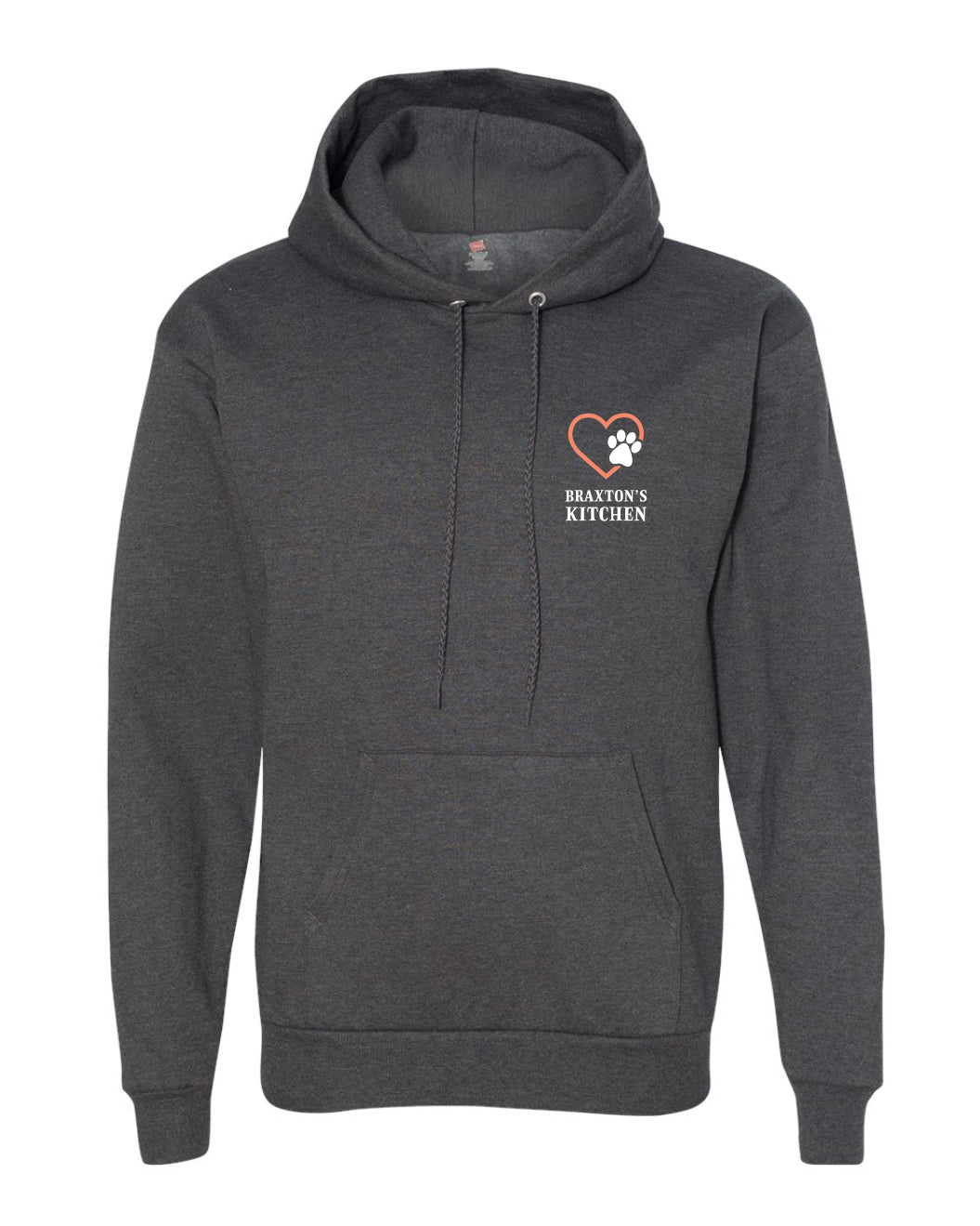 Pawsitive Hoodie - Charcoal Gray - Braxton's Kitchen