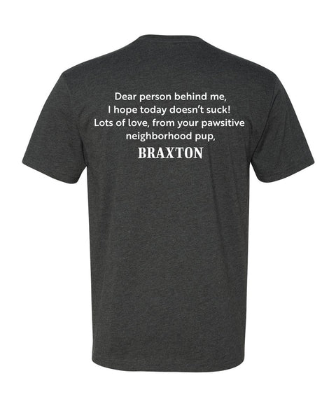 Pawsitive Tee - Charcoal Gray - Braxton's Kitchen
