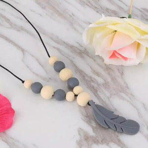 Teething Necklace - Feather