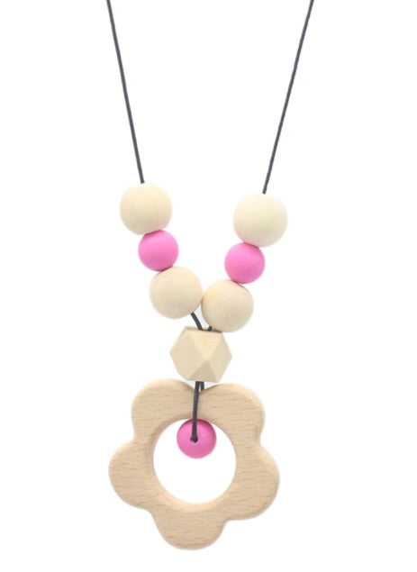 Teething Necklace with Large Pendant