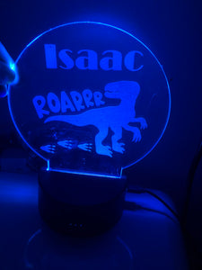 LED Personalised Nightlight With Remote