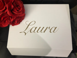 DIY Wedding/Engagement Box Decal