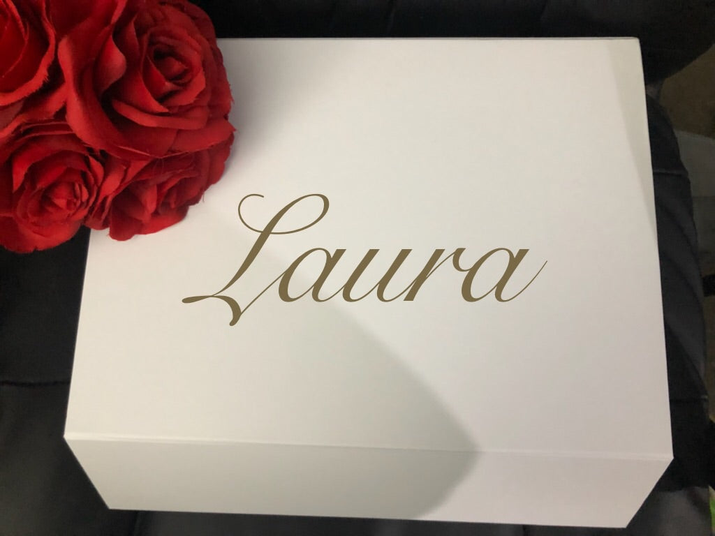 DIY Wedding/Engagement Name/Proposal Box Decal